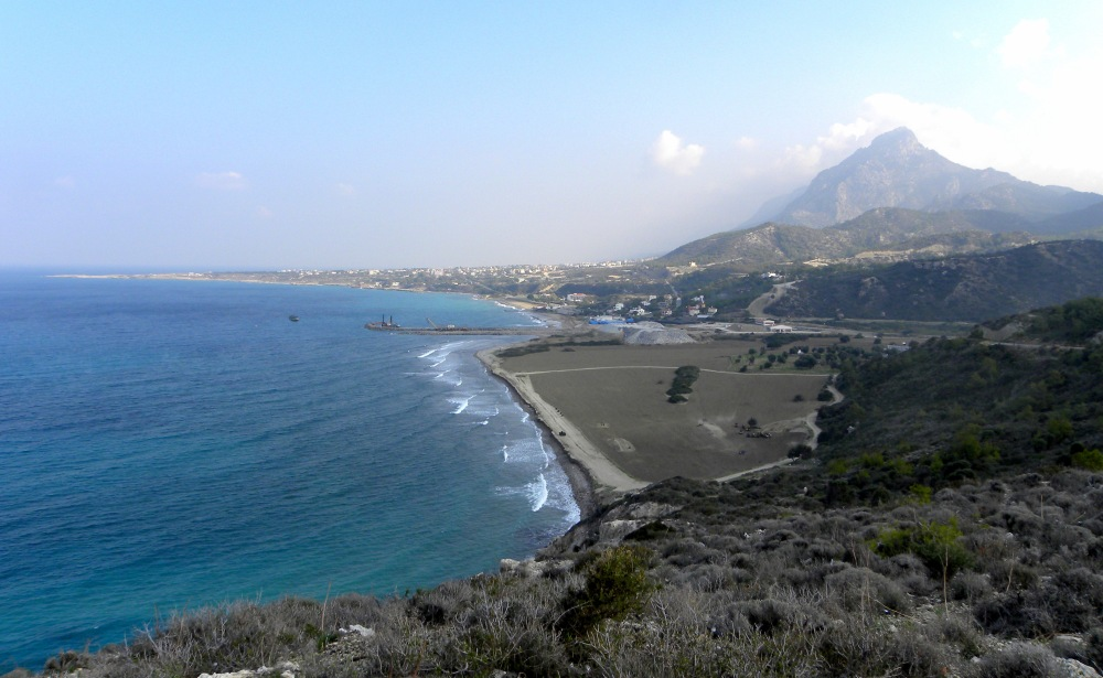 richting Kyrenia kijkend