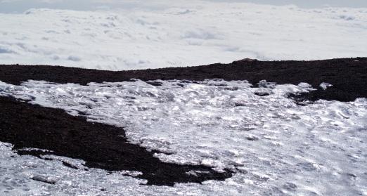 ijs, lava, wolken