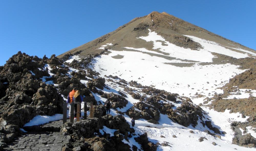 wandeling naar de top