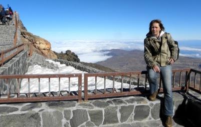 ikke, op het hoogste punt van heel Spanje, Pico del Teide...