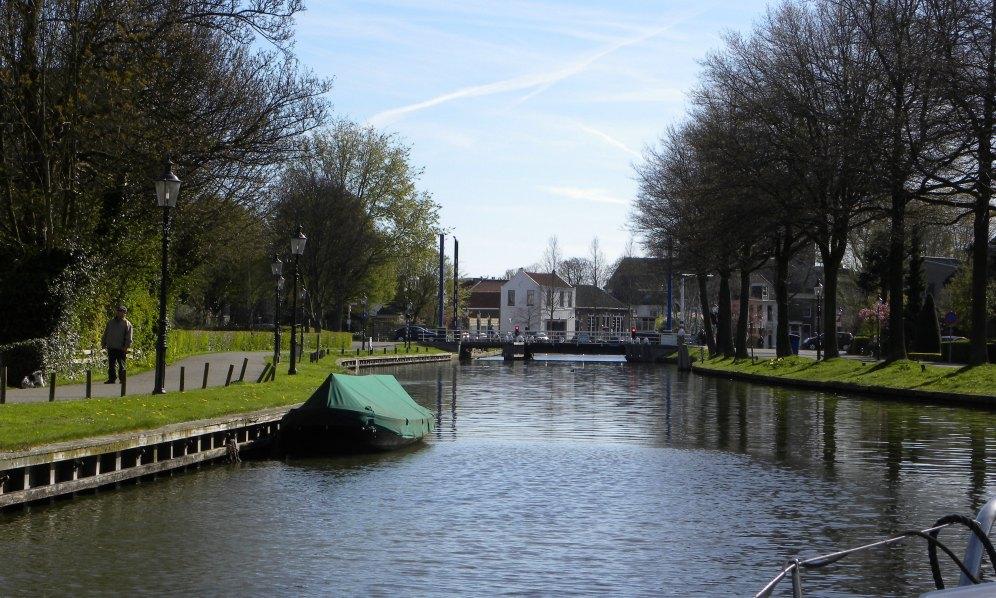 dichte ophaalbrug in Weesp